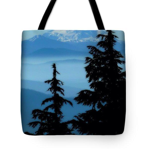 Blue Yonder Mountain Tote Bag by Susan Garren