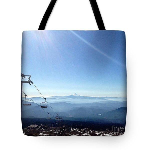 Blue Yonder Tote Bag by Susan Garren