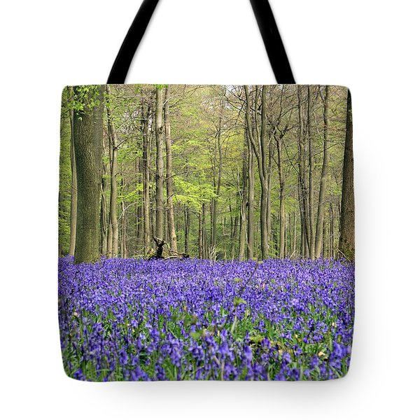 Bluebells Surrey England Uk Tote Bag