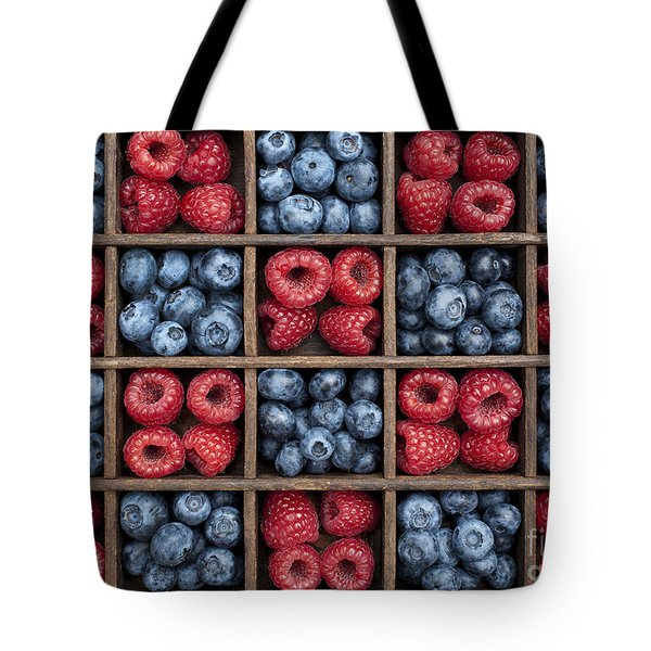 Blueberries And Raspberries  Tote Bag