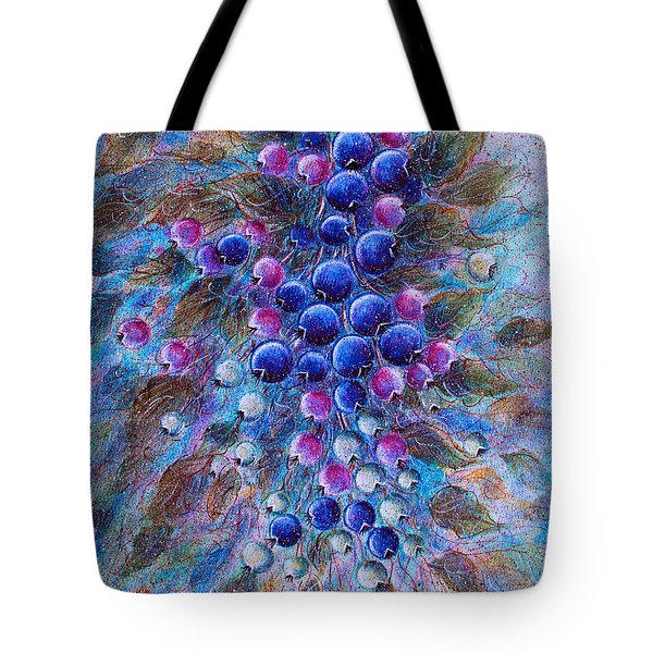 Blueberries Tote Bag by Natalie Holland