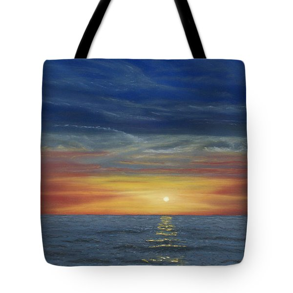 Blueberry Beach Sunset Tote Bag