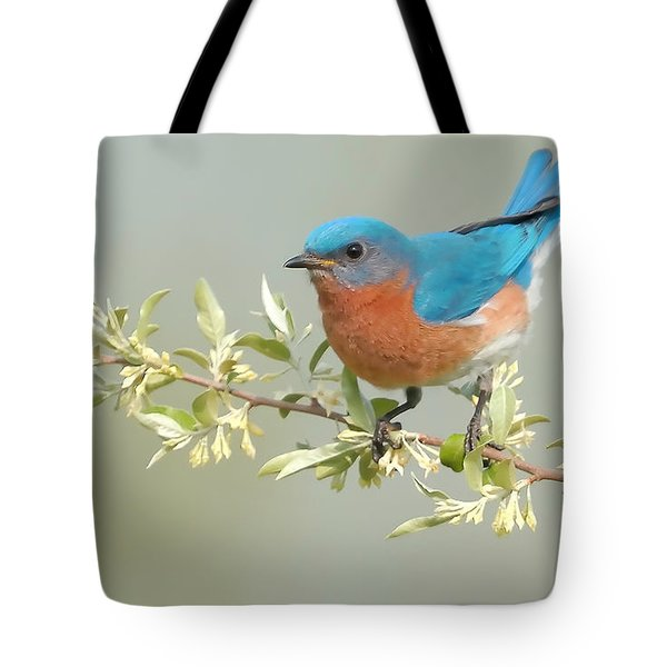 Bluebird Floral Tote Bag