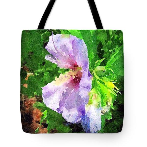 Bluebird Rose Of Sharon Tote Bag