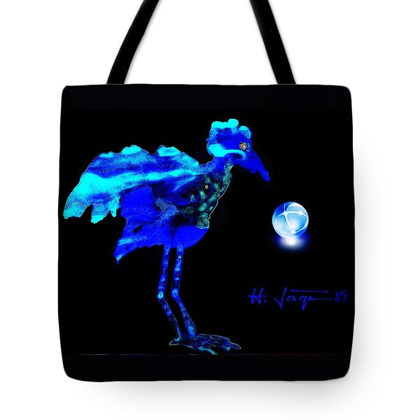 Tote Bag featuring the painting Bluebird Watching by Hartmut Jager