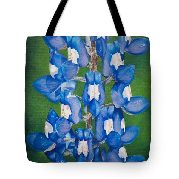 Bluebonnet Buffalo Clover Tote Bag