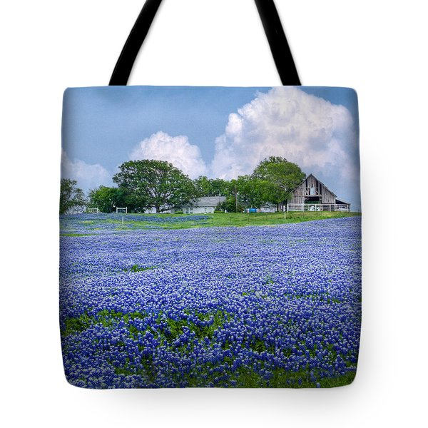 Bluebonnet Farm Tote Bag