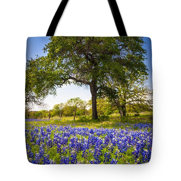 Bluebonnet Meadow Tote Bag by Inge Johnsson