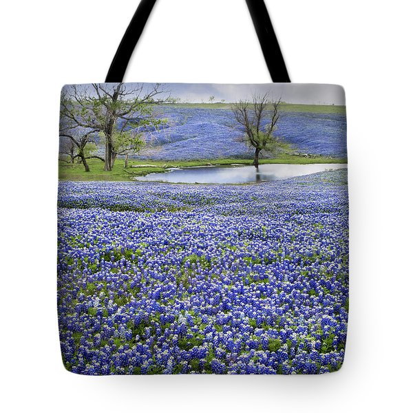Bluebonnet Pond Tote Bag