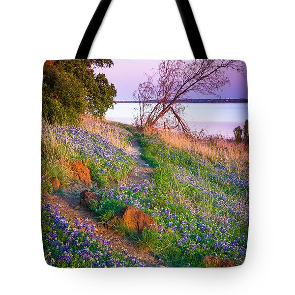 Bluebonnet Trail Tote Bag