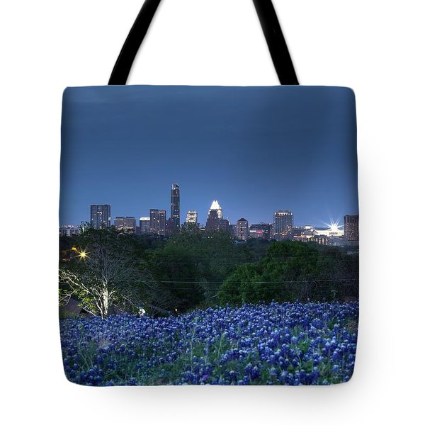 Bluebonnet Twilight Tote Bag