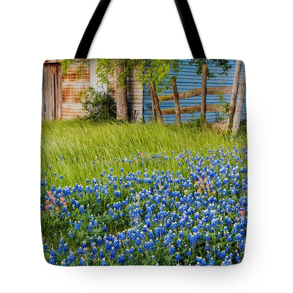 Bluebonnets Swaying Gently In The Wind - Brenham Texas Tote Bag