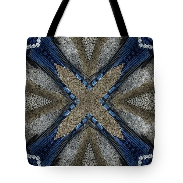 Bluejay Feathers Tote Bag