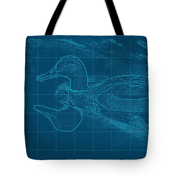 Blueprint Of A Duck Tote Bag by Rita Mueller