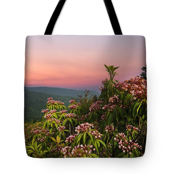 Blueridge Parkway Mountain Laurel Tote Bag