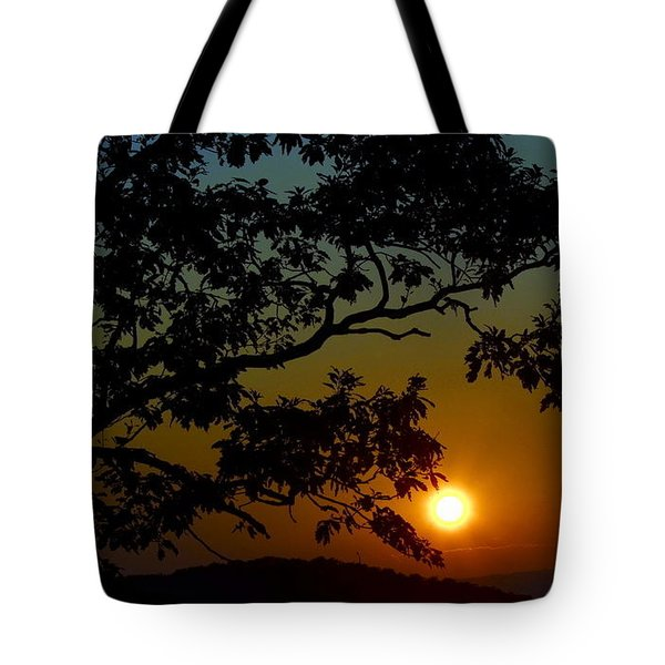 Blueridge Sunset Tote Bag by Cathy Shiflett