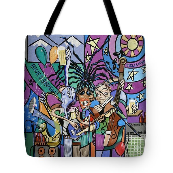 Blues And Brews Tote Bag by Anthony Falbo