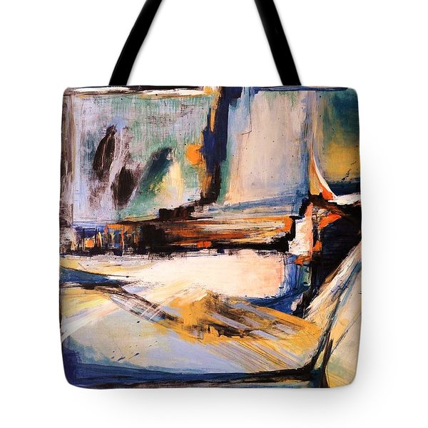 Blues And Orange Tote Bag