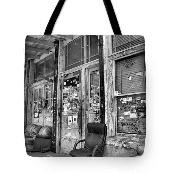 Blues Club In Black And White Tote Bag