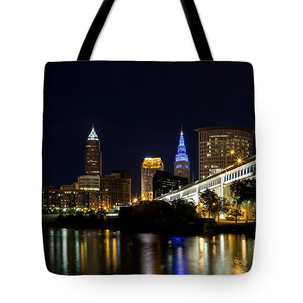 Blues In Cleveland Ohio Tote Bag