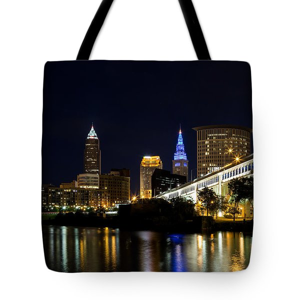 Blues In Cleveland Ohio Tote Bag by Dale Kincaid
