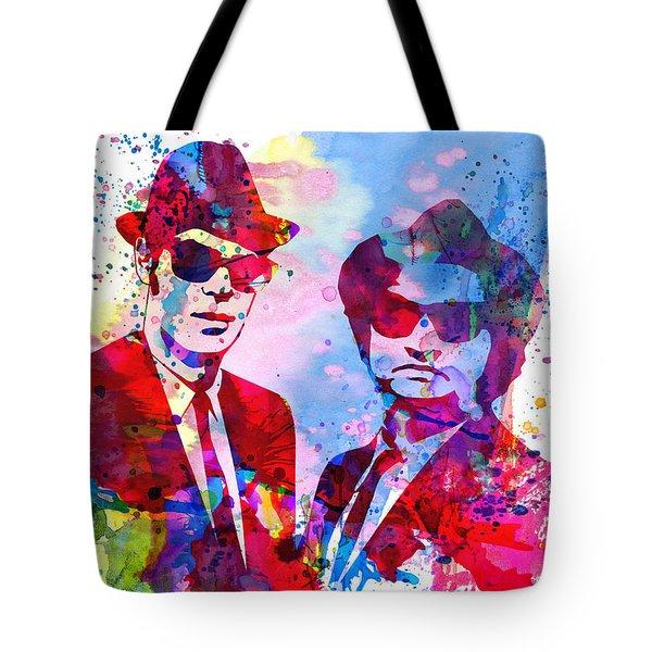 Blues Watercolor Tote Bag