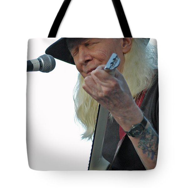 Bluesman Johnny Winter Tote Bag by Mike Martin
