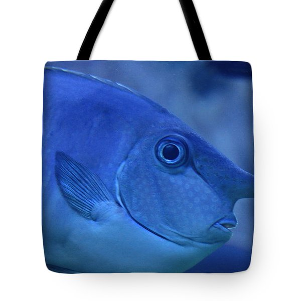 Bluespine Unicorn Fish Tote Bag by Karon Melillo DeVega
