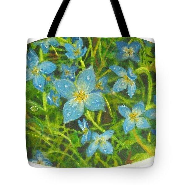 Bluets Of The Shenandoah  Tote Bag