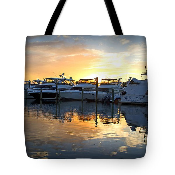 Bluewater Sunset Tote Bag