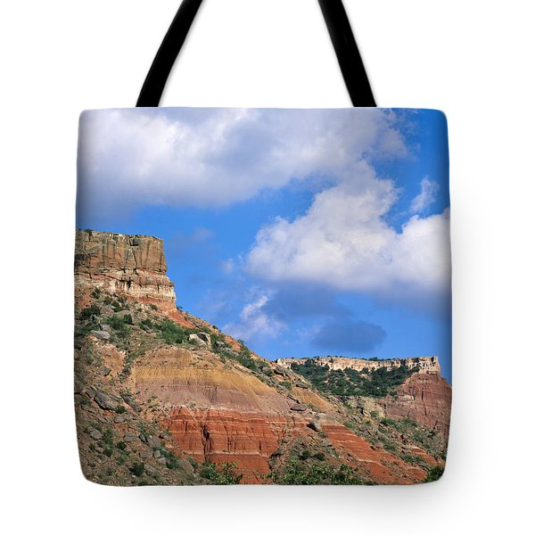 Bluffs In The Glass Mountains Tote Bag