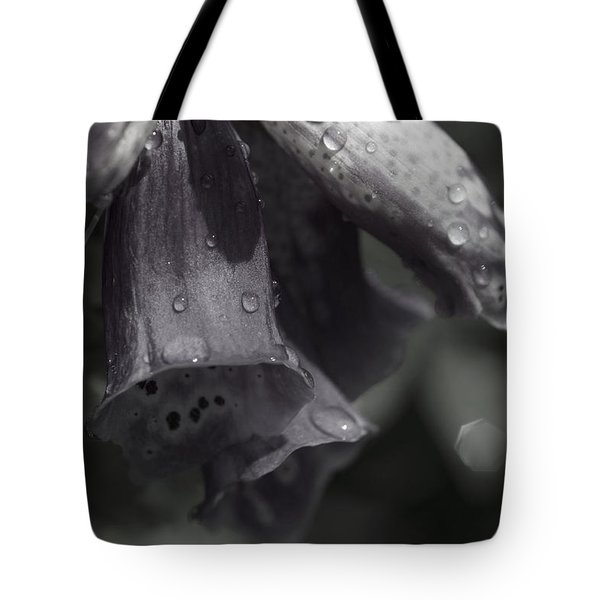 Flowers And Tiny Water Droplets Tote Bag