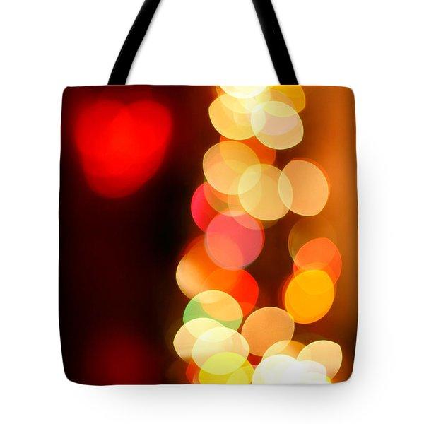 Blurred Christmas Lights Tote Bag by Gaspar Avila