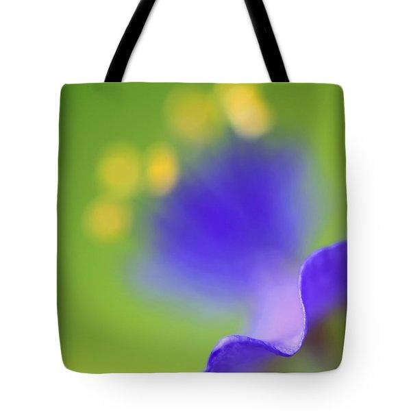Blurred Spiderwort Tote Bag