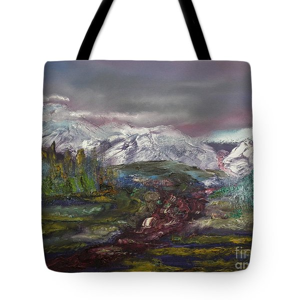 Blurred Mountain Tote Bag by Jan Dappen