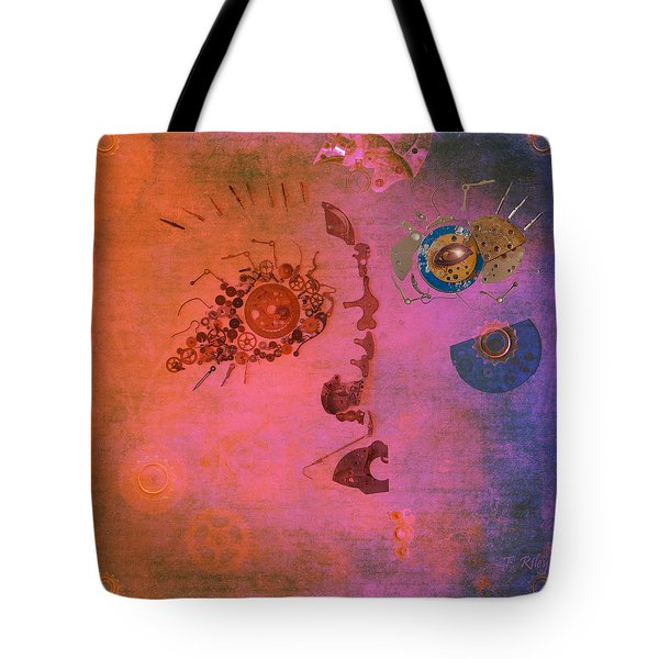 Blushing Bot Tote Bag by Fran Riley