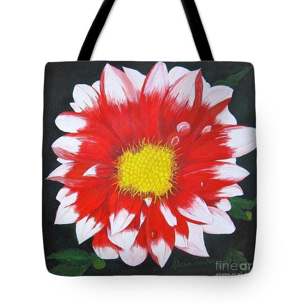 Blushing Dahlia Tote Bag