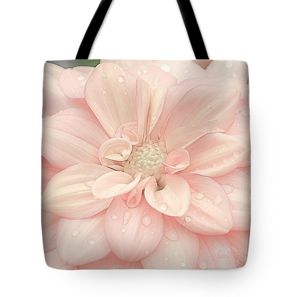 Blushing Dahlia Tote Bag