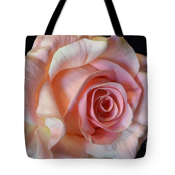 Tote Bag featuring the photograph Blushing Pink Rose by Jeannie Rhode