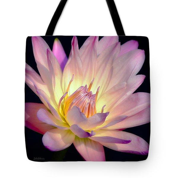 Blushing Pink Water Lily Tote Bag