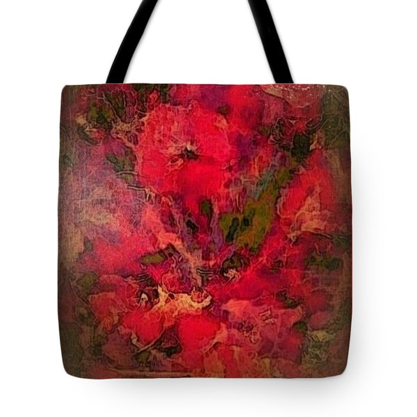 Blushing Red Flowers  Tote Bag
