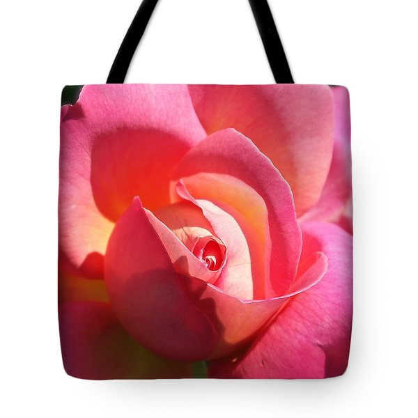 Blushing Rose Tote Bag
