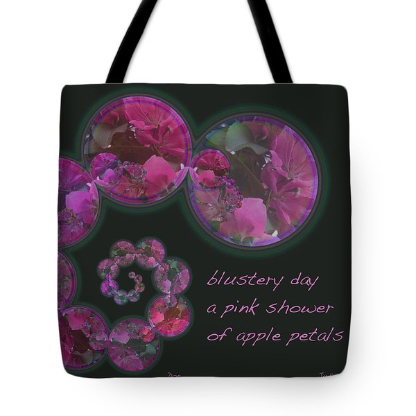 Tote Bag featuring the photograph Blustery Day Haiga by Judi and Don Hall