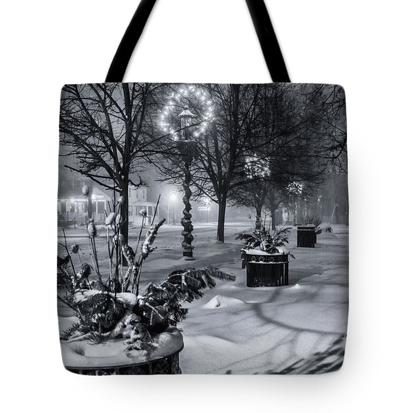 Blustery Winter Night Tote Bag