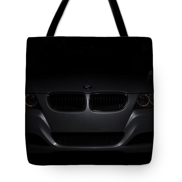 Bmw Car In Black Background Tote Bag