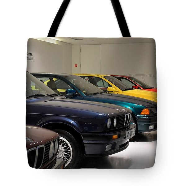 Bmw Cars Through The Years Munich Germany Tote Bag