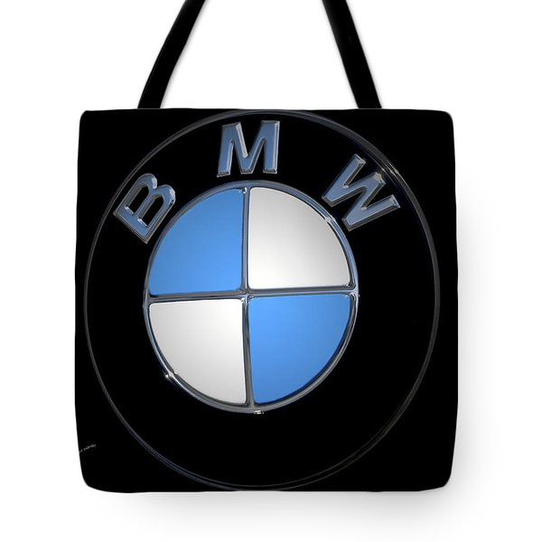 Bmw Emblem Tote Bag by DigiArt Diaries by Vicky B Fuller
