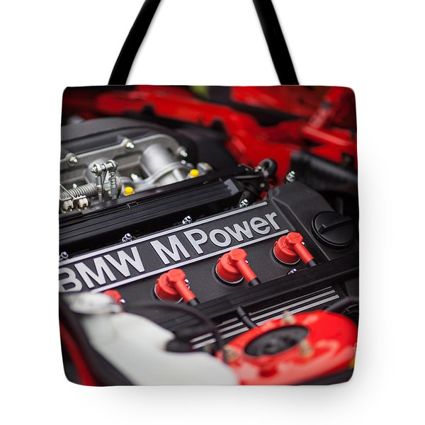 Bmw M Power Tote Bag by Mike Reid