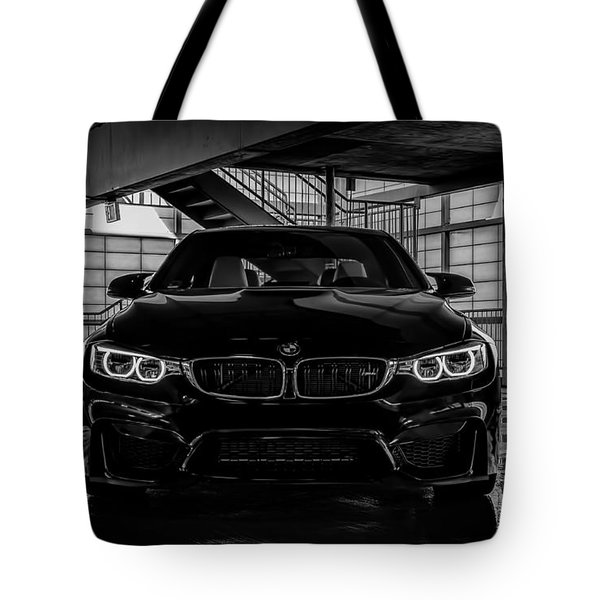 Tote Bag featuring the digital art Bmw M4 by Douglas Pittman