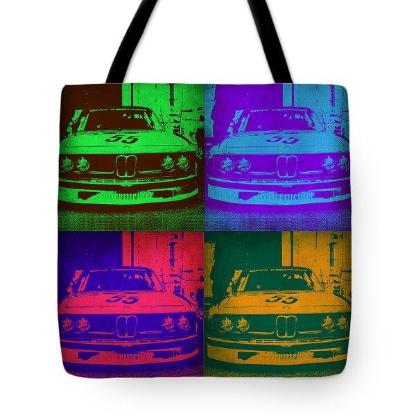 Bmw Racing Pop Art 1 Tote Bag by Naxart Studio